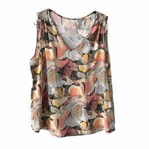 Soyaconcept Floral Sleeveless Top medium